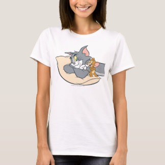 Tom and Jerry On Pillow T-Shirt