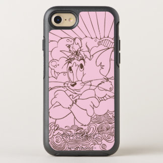 Tom and Jerry Outline OtterBox Symmetry iPhone 8/7 Case