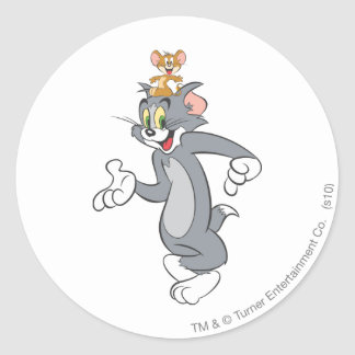 Tom and Jerry Pair Classic Round Sticker