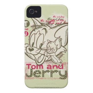 Tom and Jerry Pink and Green Case-Mate iPhone 4 Cases