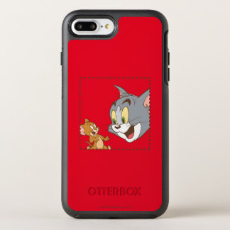 Tom and Jerry Stamp OtterBox Symmetry iPhone 7 Plus Case