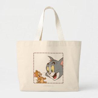 Tom and Jerry Stamp Jumbo Tote Bag