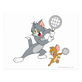Tom and Jerry Tennis Stars 1 Postcard