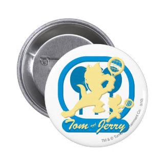 Tom and Jerry Tennis Stars 3 6 Cm Round Badge