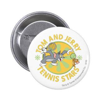 Tom and Jerry Tennis Stars 5 6 Cm Round Badge