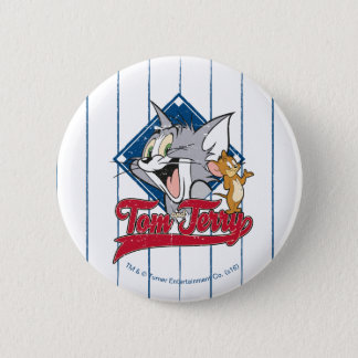 Tom And Jerry | Tom And Jerry On Baseball Diamond 6 Cm Round Badge
