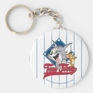Tom And Jerry | Tom And Jerry On Baseball Diamond Key Ring