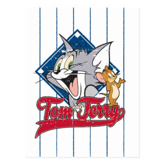 Tom And Jerry | Tom And Jerry On Baseball Diamond Postcard