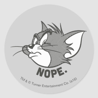 Tom And Jerry | Tom Says Nope Round Sticker