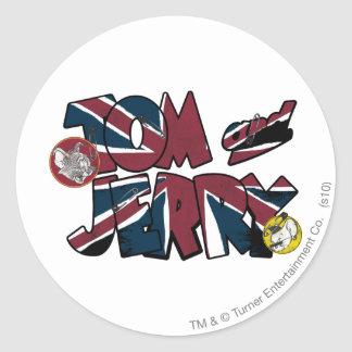 Tom and Jerry UK Overload 2 Round Sticker