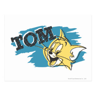 Tom Blue and Yellow Logo Postcard