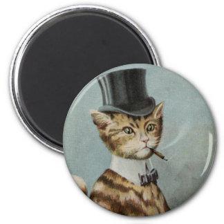Tom Cat Dressed to the Nines 6 Cm Round Magnet