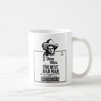 Tom Mix BEST BAD MAN 1926 Basic White Mug