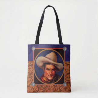 Tom Mix Cowboy Tote Bag