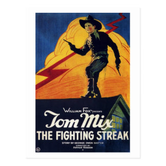 "Tom Mix in ""The Fighting Streak"" Postcard"