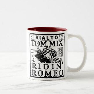 Tom Mix Ridin' Romeo 1921 Two-Tone Coffee Mug