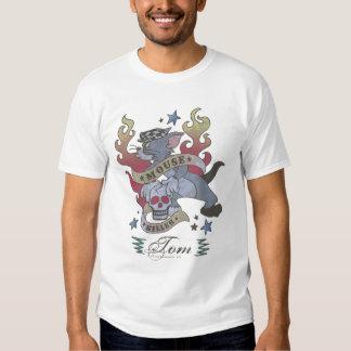 Tom Mouse Killer Tattoo 2 Tee Shirt