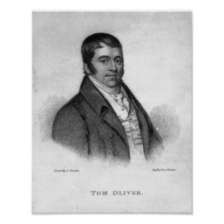 Tom Oliver, engraved by Percy Roberts Poster