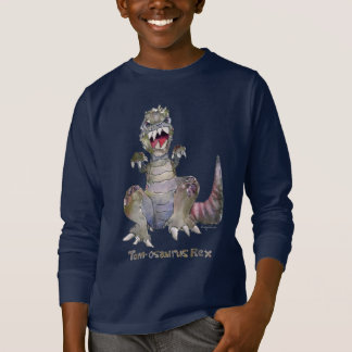 Tom-osaurus Rex Cartoon Dinosaur T-Shirt