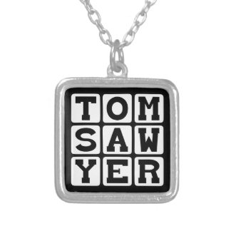 Tom Sawyer, Book By Mark Twain Silver Plated Necklace
