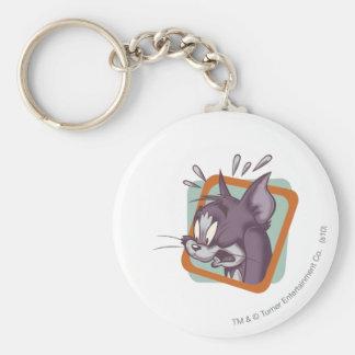 Tom Scaredy Cat Basic Round Button Key Ring