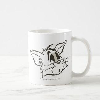 Tom Sleepy Cat Basic White Mug
