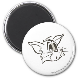 Tom Sleepy Cat 6 Cm Round Magnet