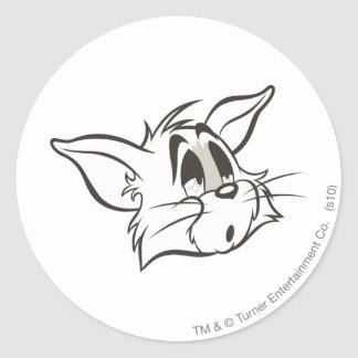 Tom Sleepy Cat Round Sticker