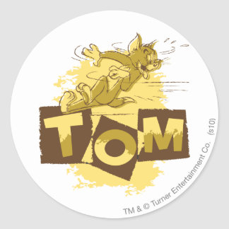 Tom Sliding Stop Classic Round Sticker