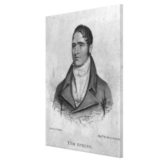 Tom Spring, engraved by Percy Roberts Canvas Prints