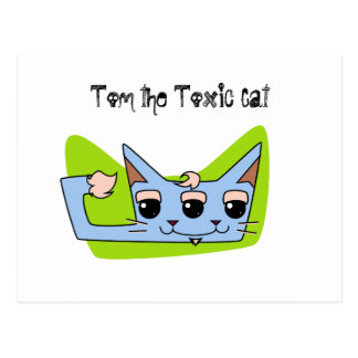Tom the Toxic Cat Post Card