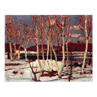 Tom Thomson - April in Algonquin Postcard