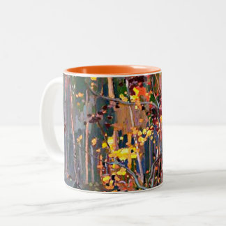 Tom Thomson art: Maple Saplings Two-Tone Coffee Mug