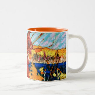 Tom Thomson - Autumn Foliage Two-Tone Coffee Mug
