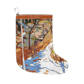 Tom Thomson - Snow and Rocks+ Large Christmas Stocking