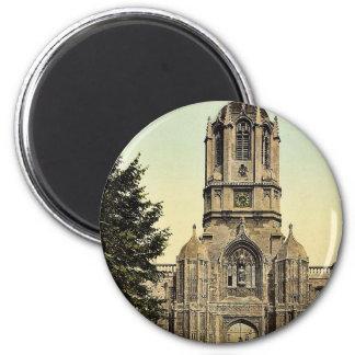 Tom Tower, Oxford, England rare Photochrom 6 Cm Round Magnet