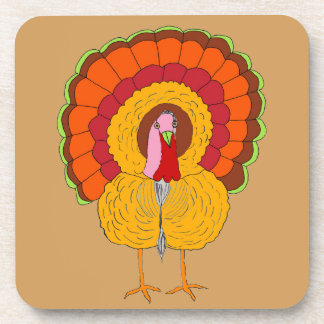 Tom Turkey on Drink Coasters (Set of 6)