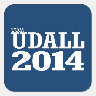 TOM UDALL 2014 SQUARE STICKER