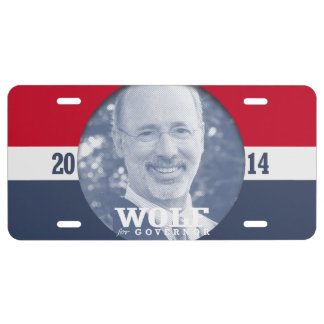 TOM WOLF CAMPAIGN LICENSE PLATE