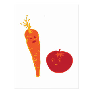 Tomato And Carrot Postcard