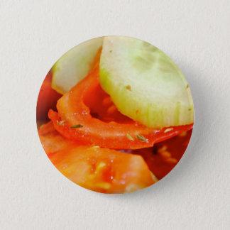 Tomato and Cucumber Salad 6 Cm Round Badge