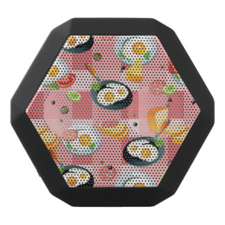 Tomato and Fried Eggs Pattern Black Boombot Rex Bluetooth Speaker