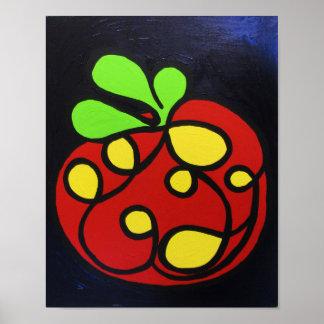 Tomato Art Print poster