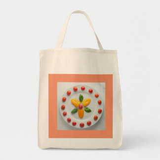 Tomato, Basil and Pepper Tote Grocery Bag