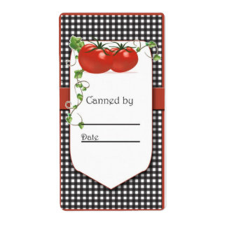 Tomato Canning Jar Labels