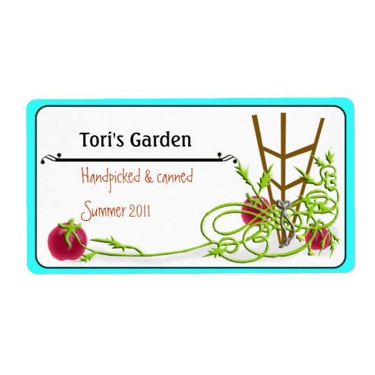 tomato canning shipping label