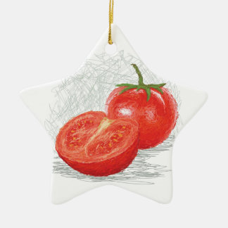 tomato ceramic ornament