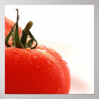Tomato Close Up Poster