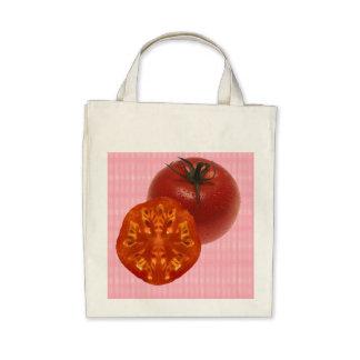 Tomato design tote tote bags