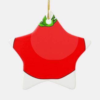 Tomato Drawing Ceramic Ornament